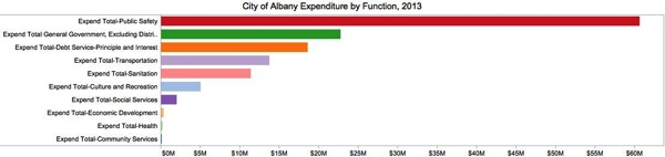 City of Albany Expenditure by Function 2013